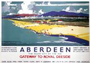 Aberdeen, Gateway to Royal Deeside.  LNER/LMS Vintage Travel poster by Frank H Mason